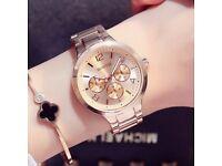 GIMTO Luxury Gold Lovers Bracelet Wristwatch