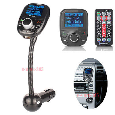 Pro Wireless Bluetooth LCD Car Kit MP3 Player FM Transmitter USB SD Card +Remote on Rummage