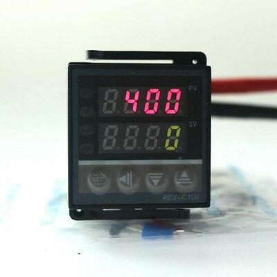 Ssr 220v Digital Pid Temperature Controller Thermocouple K Dual Led Display