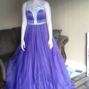 Beautiful crystal sequence prom dress