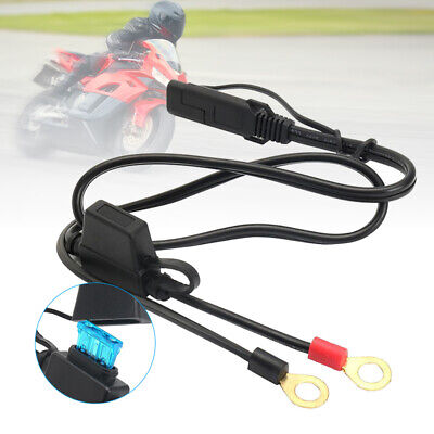 12V Motorbike Motorcycle Battery Terminal Ring Connector Harness Charger Cable
