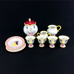 Beauty And The Beast Tea Set With Sound Mrs Potts Chip Cups Pot