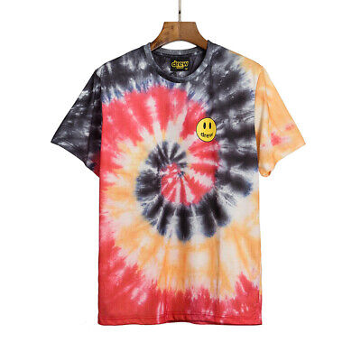 Justin Bieber Drew House T-Shirt Happy Face Tie Dye Unisex INS Fashion Best Gift
