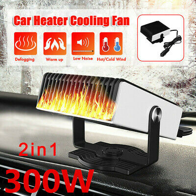 12V 300W Car 2 in 1 Portable Cigarette Lighter Car Fan Heater Defroster Demister