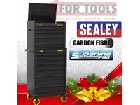 Sealey Tools AP26CFSTACK Carbon Fibre Effect Premier Tool Chest Topchest & Rollcab Combination 10