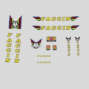 Faggin-Bicycle-Decals-Transfers-Stickers-Yellow-Black-n-100