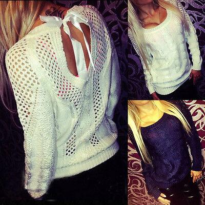 HOT Women Long Sleeve Knitwear Jumper Cardigan Long Coat Jacket Casual Sweater