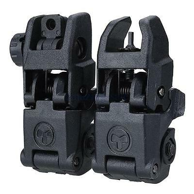 1 pair Tactical Folding Flip-up Sight Front&Rear Set Used On Rifles
