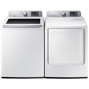 "Samsung WA45H7000AW 27"" Top Load Washer 5.2 Cu. Ft Dryer"