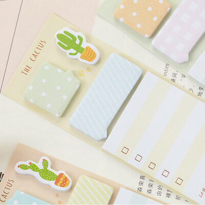 2pcslot Note Pad Planner Diary Cactus Memo Pad Cute Label Stickers Stationery