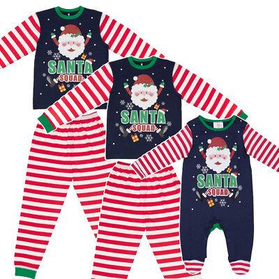 Santa Squad Weihnachten Schlafanzüge Familie Mama Papa Kinder Baby Elfen Pyjama