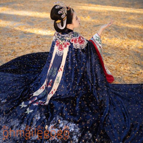 ZiJueQiuSe Hanfu Cloak+Collar Ancient Costume Men