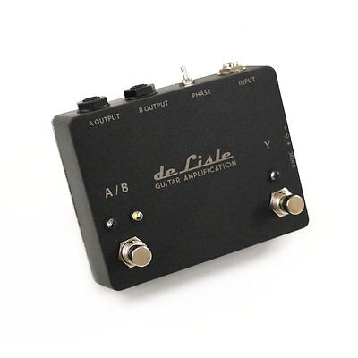 de Lisle AB/Y ABY Guitar Amp Switch Selector Pedal Buffered TRANSFORMER ISOLATED