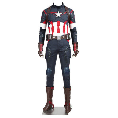 Captain America 2 Outfit (Avengers 2 Age of Ultron Captain America Cosplay Steve Rogers Costume Outfit)