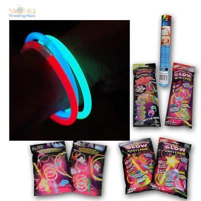 Knicklichter 5 versch. Sets, Leuchtstäbe Armreifen Glowstick Party Deko Lichter