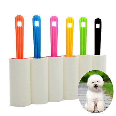 Pet Dog Cat Lint Hair Clothes Sticky Dust Dandruff Roller Brush Remover US