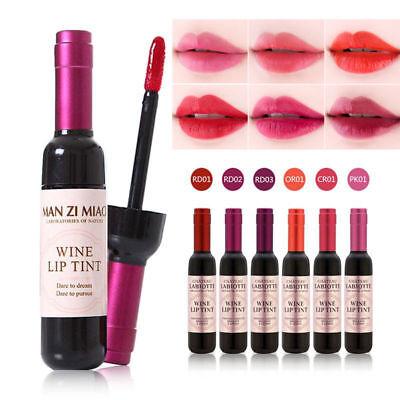 Waterproof Wine Bottle Lipstick Shaped Lip Tint Long Lasting Liquid Lipgloss -