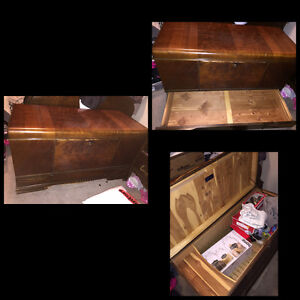 Wood chest vintage lots of storage