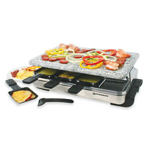BRAND NEW VELATA 8 PERSON RACLETTE & GRANITE STONE PARTY GRILL Windsor Region Ontario image 1