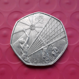 Volleyball - Olympics 50p coin