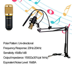 Condenser Microphone Kit for Studio Recording with Arm Stand
