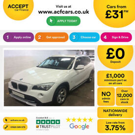 White BMW X1 2011 2.0TD xDrive20d SE FROM £31 PER WEEK!