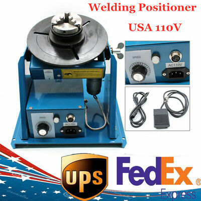 Rotary Welding Positioner Turntable Table 2.5 3 Jaw Lathe Chuck 2-10 Rpm 10kg