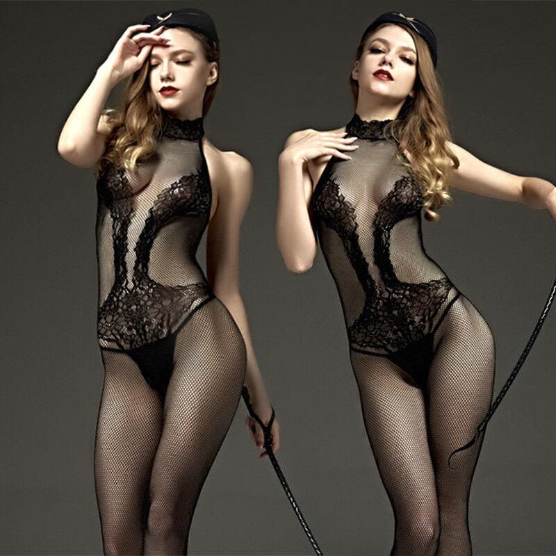 sexy Catsuit Dessous Negligee Bodystocking erotik Reizwäsche Overall SM bondage