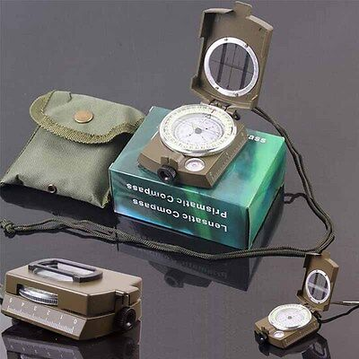 New Pocket Military Army Geology Metal Compass For Outdoor Camping Hiking Aga Us
