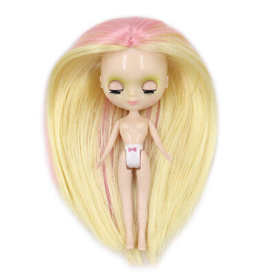 Blythe Nude Doll Mix Color Hair from factory w//stand