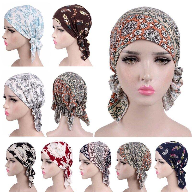 New Women Bandana Pre Tied Turban Headwear For Cancer Patien