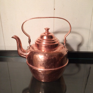 Volund Hamar Copper teakettle/theiere Volund Hamar en cuivre