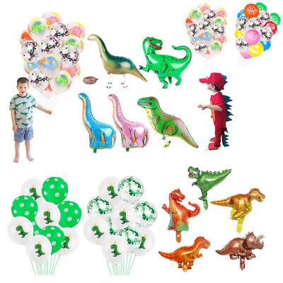 Jurassic Dinosaur Foil Balloon Cute Latex Balloon Bunch Birthday Party Supplies - Dinosaur Birthday