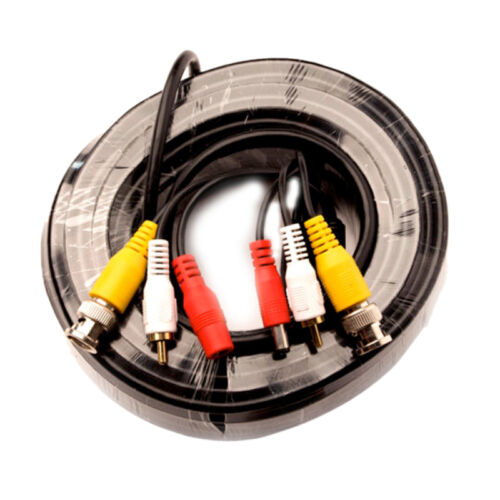5m BNC Video Power Cable For CCTV Camera DVR Security System N3