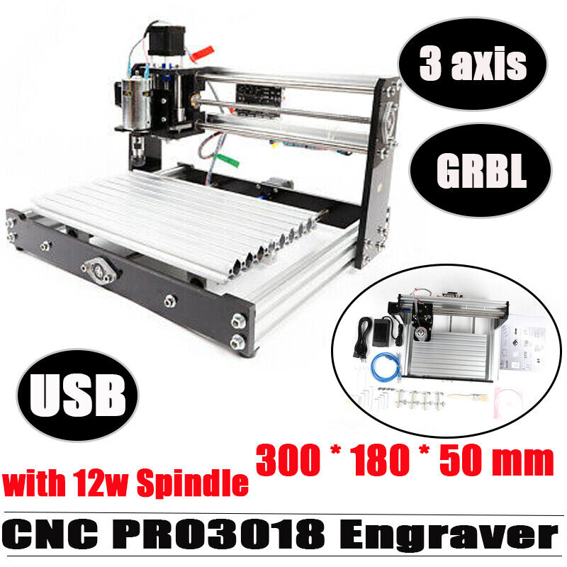 Upgraded CNC 3018 PRO Router Electric Engraving Machine Milling w/GBRL Control