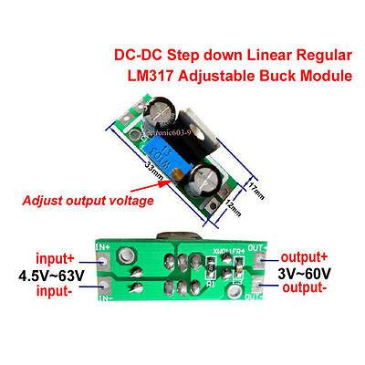 Dc-dc Buck Step-down Regulator Converter 4.565v To 3v 6v 9v 12v 24v 48v Module