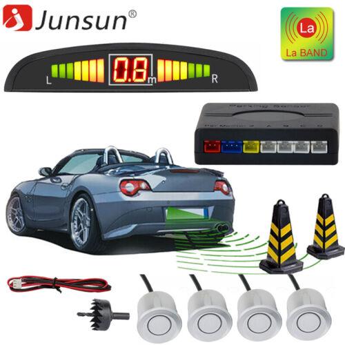 4 Parking Sensors Car Auto Reverse Backup Rear Buzzer Radar