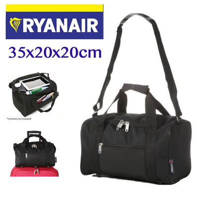 Small 35 x 20 x 20 cm Ryanair Second Cabin Hand Luggage Holdall Light Flight Bag