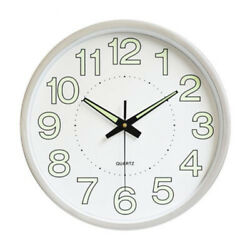1230cm Wall Clock Large Digital Luminous Night Light Silent Non Ticking Silver