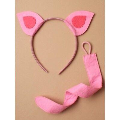 Schwein Ferkel Ohren und Schwanz Stirnband Maskenkostüm ()