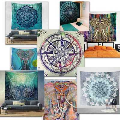 Indian Mandala Tapestry Wall Hanging Decor Bohemian Hippie Queen Bedspread - Hippie Home Decor