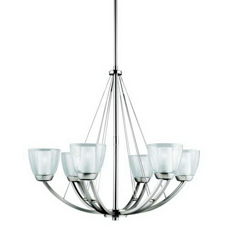 1997ni 6 light lucia chandelier brushed nickel
