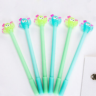 Creative Lovely Cactus Shape Gel Pen Student Office School Stationery Writing
