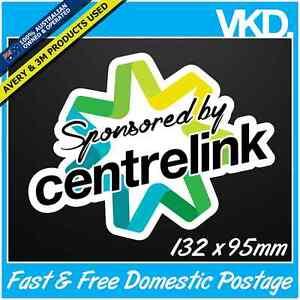 Sponsored By Centrelink Sticker/Decal - Funny Drift Bomb 4x4 Car Turbo JDM