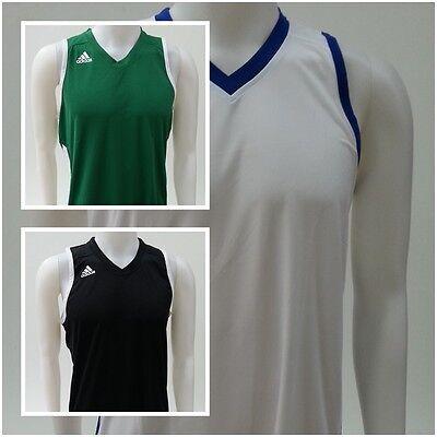 Grün Herren-basketball - (adidas E KIT 2.0 Herren Basketball Trikot Shirt weis grün schwarz Jersey O 43-50)