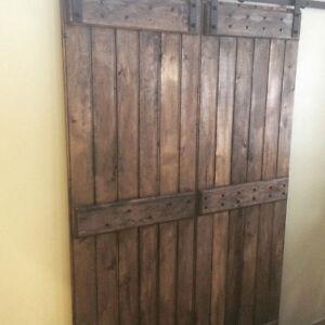 Custom Handcrafted Sliding Rustic Barn Door Hardware Soft Close