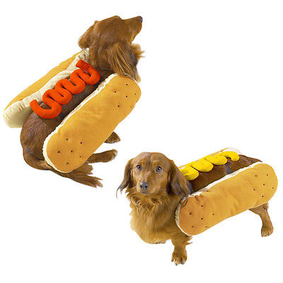 Hot Diggity Dog Hot Dog Halloween Costume - Choose Hotdog w/ Mustard or Ketchup (Dog Hot Dog Halloween Costume)