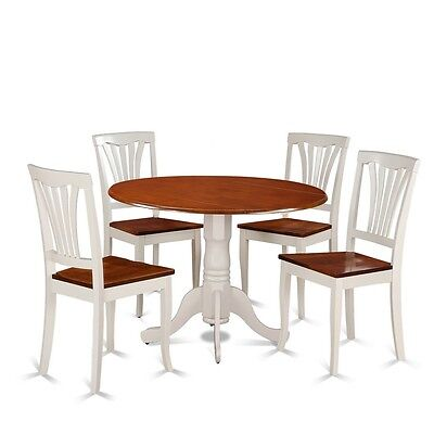 East West Furniture 5 Piece Dining Set-Round Table And 4 Kit
