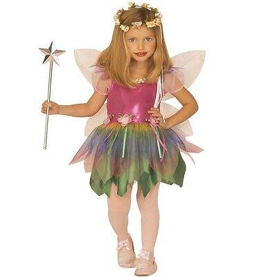 Bogen Kostüme (REGENBOGEN FEE Kostüm Mädchen Märchen Elfe Schmetterling mit Flügeln)