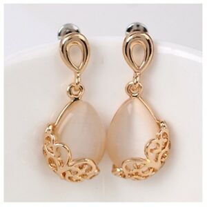 Original  Gold Filled Crystal Womens Hoop Earrings 42mm Free Shipping  EBay